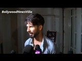 Shahid Kapoor spotted at casting director Mukesh Chhabras birthday party.