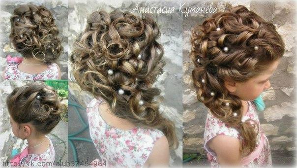 Прически девочкам на средние волосы пошаговая инструкция