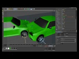 C4D collision cars dynamics + mesh