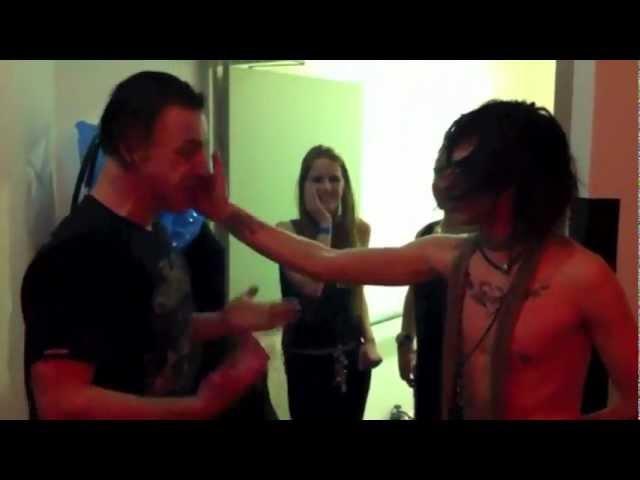 """Till Lindemann and Eric """"Cat Bäckman in Slap Attack - Rammstein vs. Deathstars"""
