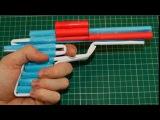 Как сделать пистолет из бумаги - револьвер