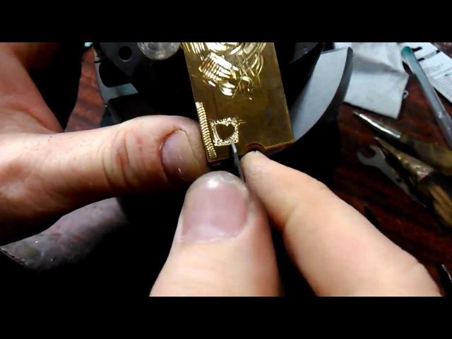 Азы ручной гравировки штихелем.Часть №2 ( гравировка фона,как и чем ) ..