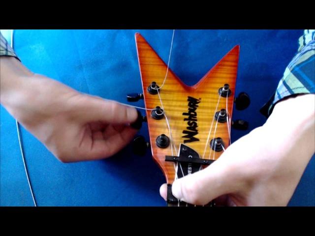 Замена струн на гитаре с Floyd Rose и регулировка тремоло
