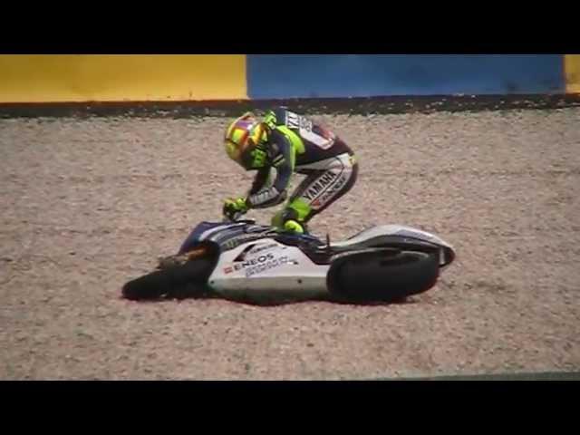 Valentino Rossi crash Moto GP Le Mans 2013