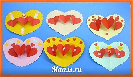 Детские поделки ко дню святого валентина