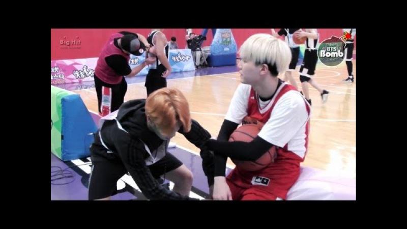 [BANGTAN BOMB] Shooting guard SUGA with cheerleader 2 Jimin