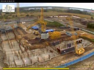 Монтаж башенного крана КБ-515