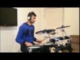 Roman Harutunyan. drum cover ( Tata Simonyan - Amena Lav@ Du es)