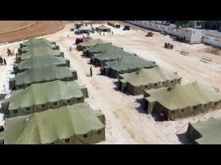 В Сирии открыт первый лагерь для беженцев, построенный россиянами