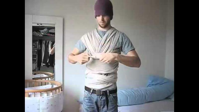 Как завязать слинг-шарф
