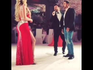 Даша и Сергей Пынзарь танцуют пасодобль на свадьбе у Ксении Бородиной и Курбана Омарова 1