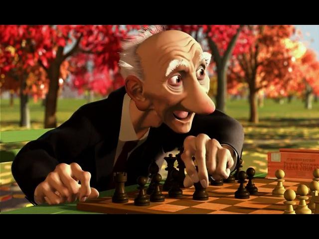 мультфильм Disney Игра Джери Короткометражки Студии PIXAR том1 про шахматы Старичок с шахматами
