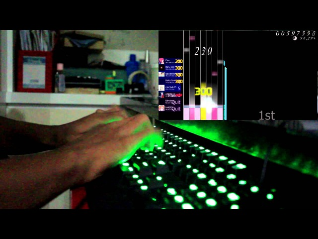 Osu mania Multiplayer Live Play Hatsune Miku Rubik's Cube 7x7x7 7k played by Fiea
