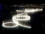 Музыкальный Фонтан Дубай рядом с небоскрёбом Бурдж Халифа HD
