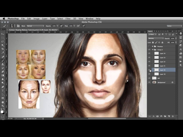 южContour Shaping - Photoshop Makeup Tutorial\\ujk,