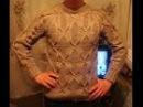 Мужской пуловер спицами с рукавом реглан Часть 1. Men's sweater knitting
