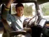 Crazy Driver, drunk driver of the truck сумашедший водитель грузовика