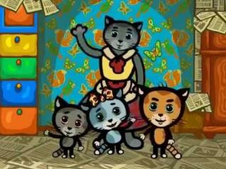 Котенок - юный художник. Мультик для малышей.