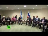 Владимир Путин встретился с Пан Ги Муном на полях ГА ООН