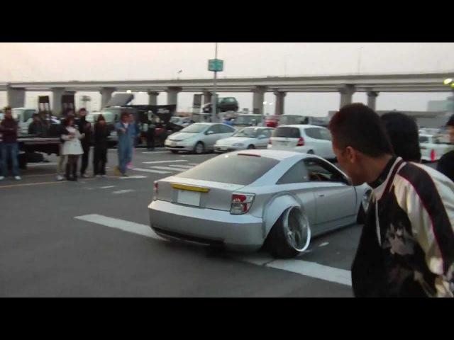 Crazy camber Kawashima Celica leaving the Nagoya Exciting Car Showdown