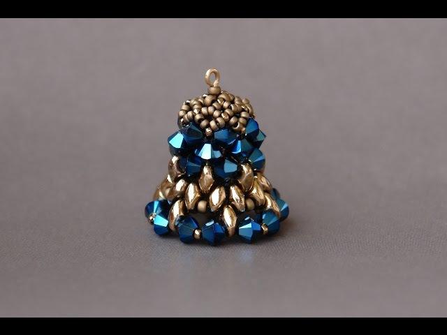 Sidonias handmade jewelry - Christmas decorations - Beaded bell