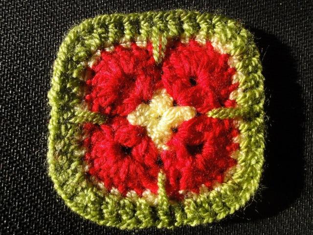 Афганский четырёхугольный цветок Вязание крючком Afghan rectangular flower Crocheting
