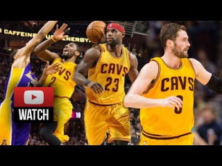 Lebron James, Kyrie Irving & Kevin Love Big 3 Highlights vs Lakers (2015.02.08) - MUST WATCH!