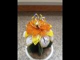 Цветок для кактуса. A big flower for a cactus. Бисер с Анной. Бисероплетение.