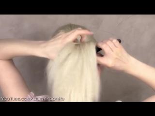 Праздничная_вечерняя_свадебная причёска прическа на средние и длинные волосы, быстро и легко