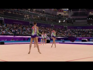 Европейские игры. Художественная гимнастика. Победа сборной России в многоборье