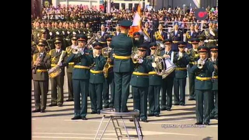 Парад в Новосибирске в честь 68-летия Победы. 9 мая 2013 года