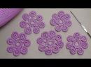Урок вязания Как связать цветок крючком с лепестками из гусенички Irish lace