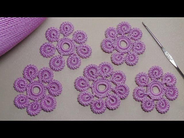 Урок вязания.Как связать цветок крючком с лепестками из гусенички. Irish lace. » Freewka.com - Смотреть онлайн в хорощем качестве