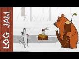 The Rain - funny cartoons    Log Jam series