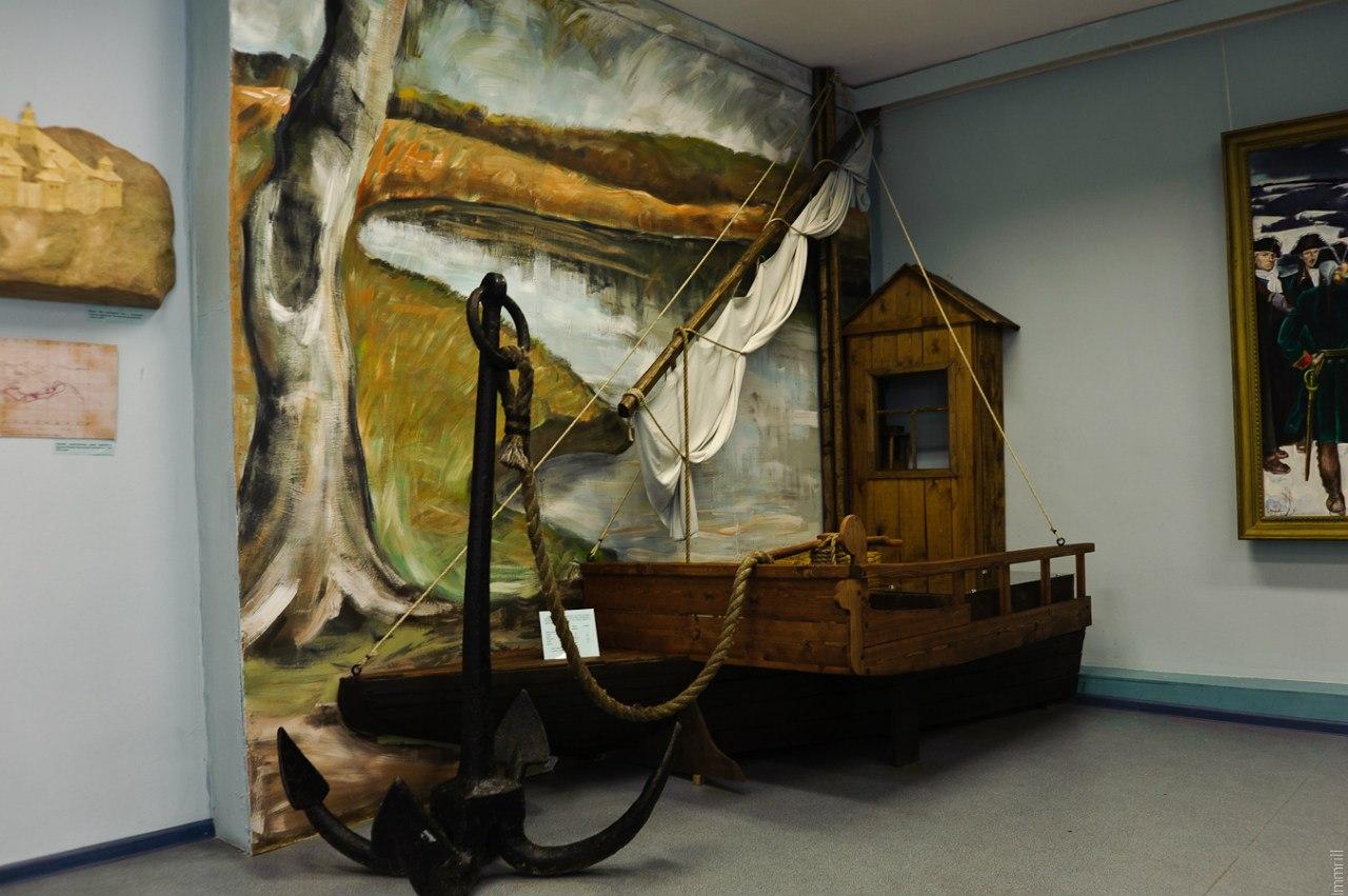 В Осинском краеведческом музее. Макет судна экспедиции Беринга
