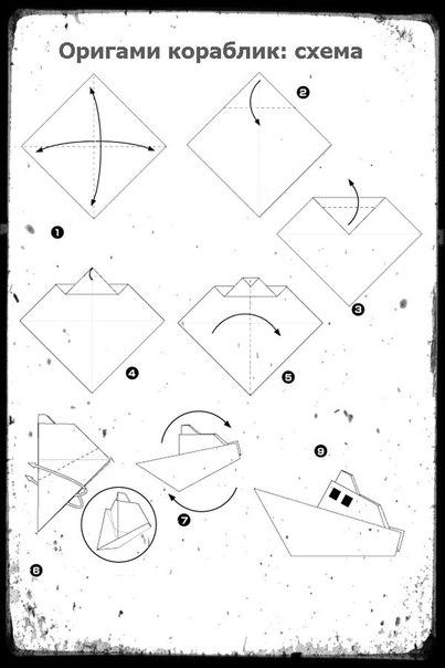 Как сделать кораблик в оригами