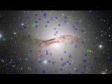 Панорама гигантской эллиптической галактики Centaurus A (NGC 5128) и ее необычных шаровых скоплений