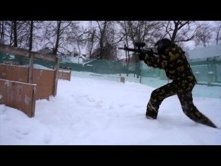 Медведь Зима 2015 пейнтбол Ковров