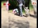 Ужас! Мама выгуливает дочь на поводке. Real video