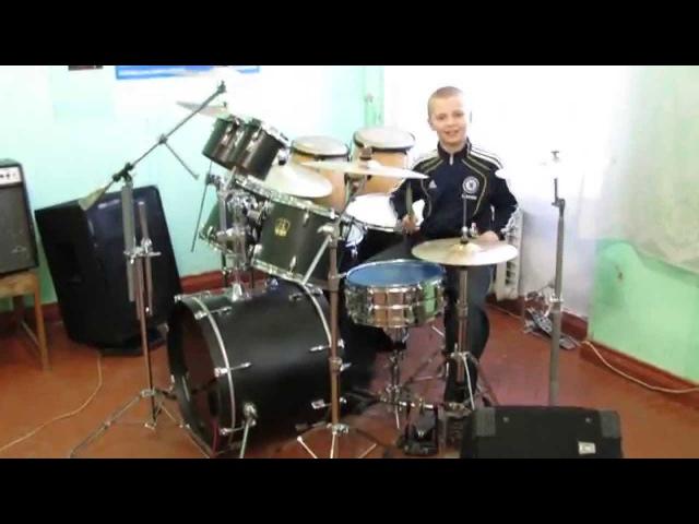 Виктор Цой Песня Без Слов Drum Cover Барабанщик Даниил Варфоломеев 11 лет