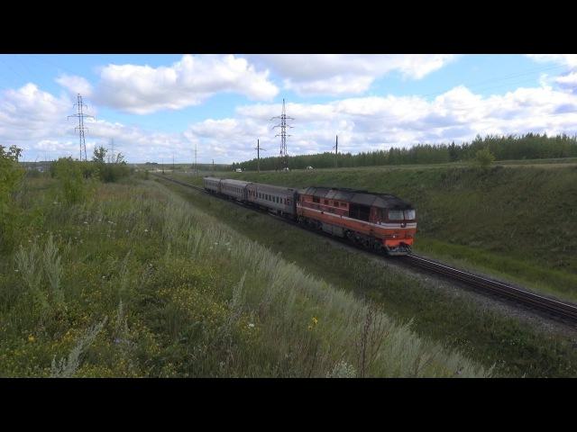 Тепловоз ТЭП70-0566 с пригородным поездом Ижевск - Набережные Челны