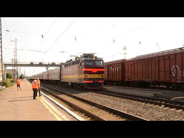 «Эффектное отправление чехословацкого электровоза»