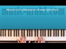 Музыка из телепередачи В мире животных. Как играть на пианино.