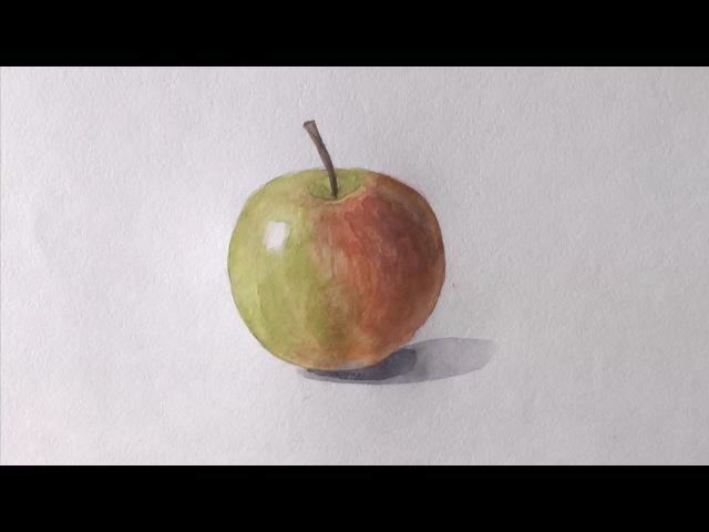 Уроки рисования. Как нарисовать ЯБЛОКО !how to draw an apple | Art School
