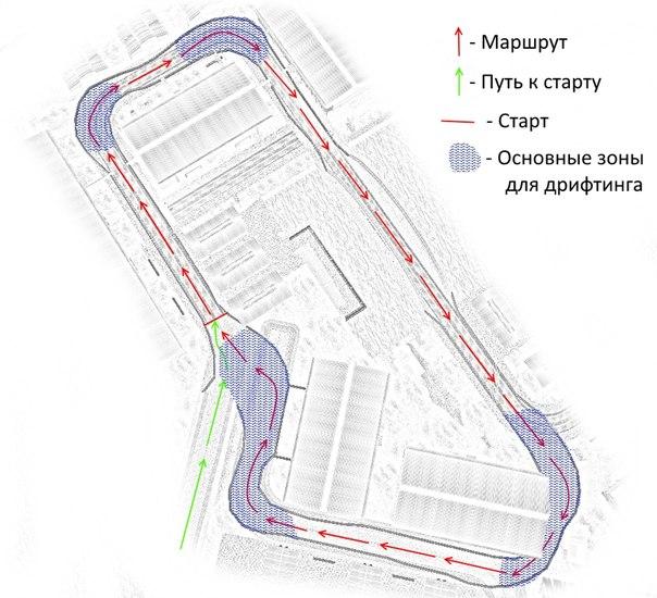 Вот схема трассы.