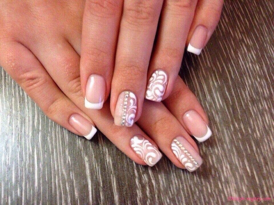 Свадебный дизайн ногтей нарощенных