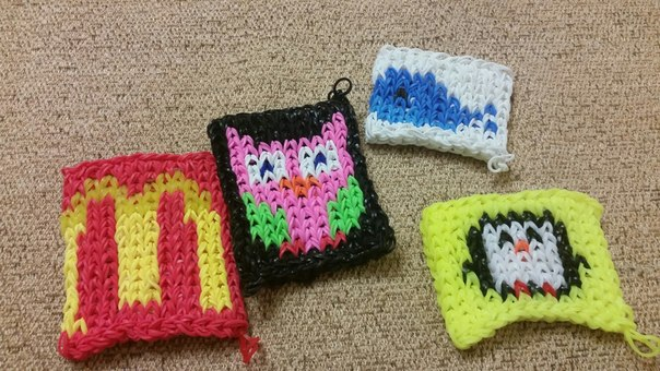 Схемы плетения, как плести браслеты из резинок