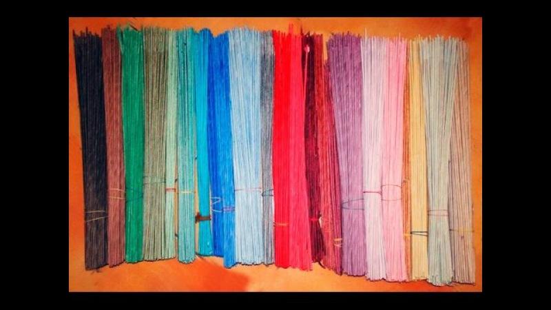 ▬► Как красить газетные трубочки. / How to paint the tube's from newspapers