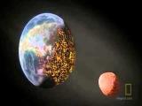 Столкновение двух планет в открытом космосе