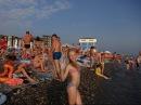Пляж Лазаревское взморье в Лазаревском. Июльское море накануне дождя. Lazarevskoe SOCHI RUSSIA